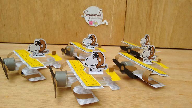 Porta Tubete Avião - Snoopy Aviador