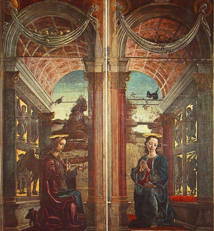 TURA, Cosmè Italian Early Renaissance (ca.1430-1495)_Annunciation 1469