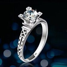 Find More Rings Information about 50% Off Eiffel Tower Designer Adjustable Rings For Women White Gold Plated Big CZ Diamond Stone Wedding Ring Jewelry Ulove DN01,High Quality ring digital tyre pressure gauge,China ring star Suppliers, Cheap ring message from D&C Fashion Jewelry Buy to Get a Free Gift on Aliexpress.com