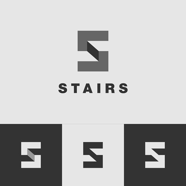 Stairs logo :) Icon is an S monogram with steps of stairs in negative space :)…