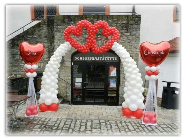 600 best balloon wedding parties decors decorations images on heart balloon arch perfect for a wedding reception junglespirit Choice Image