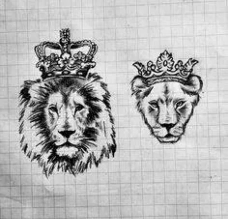 lion and lioness king and queen tattoos - Google Search