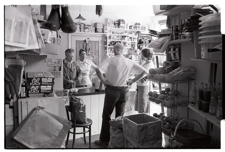 Bird's grocery store. Winkleigh, June 1981. Photograph by James Ravilious © Beaford Arts