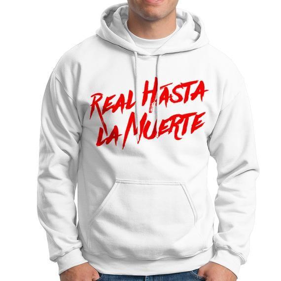 Real Hasta La Muerte Unisex Hoodie Anuel Aa Hoodie Bad Bunny Hip Hop Rap Carol G Music Inspired F Moda De Ropa Ropa Sudaderas