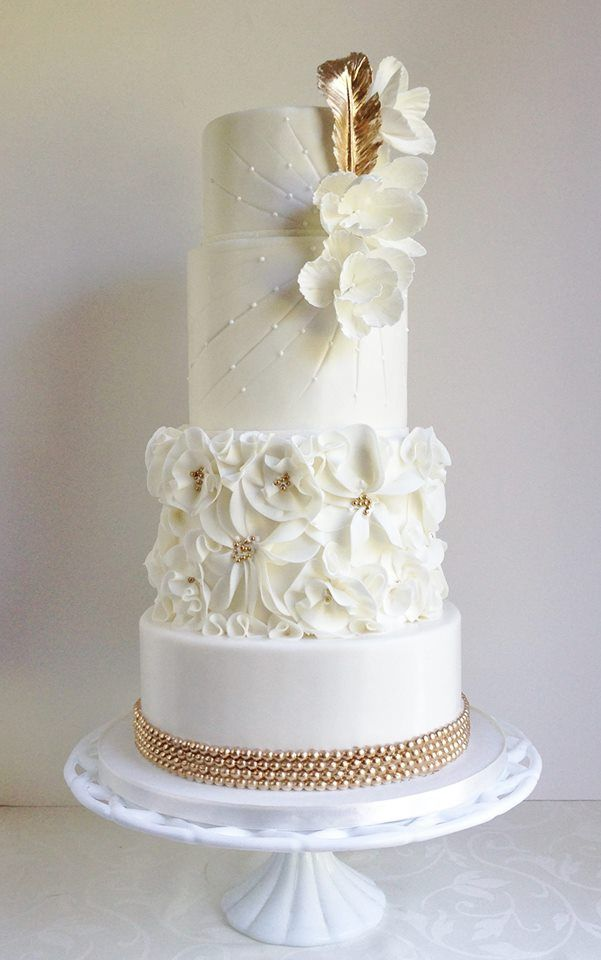 Wedding Cakes With Exceptional Details. To see more: http://www.modwedding.com/2013/09/25/wedding-cakes-092513