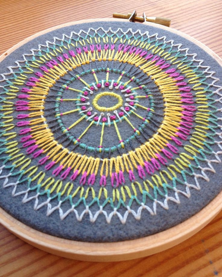 freeform hand embroidered hoop art on repurposed pool table felt in 4 inch hoop by bo betsy - free shipping by bobetsy on Etsy https://www.etsy.com/listing/200871235/freeform-hand-embroidered-hoop-art-on