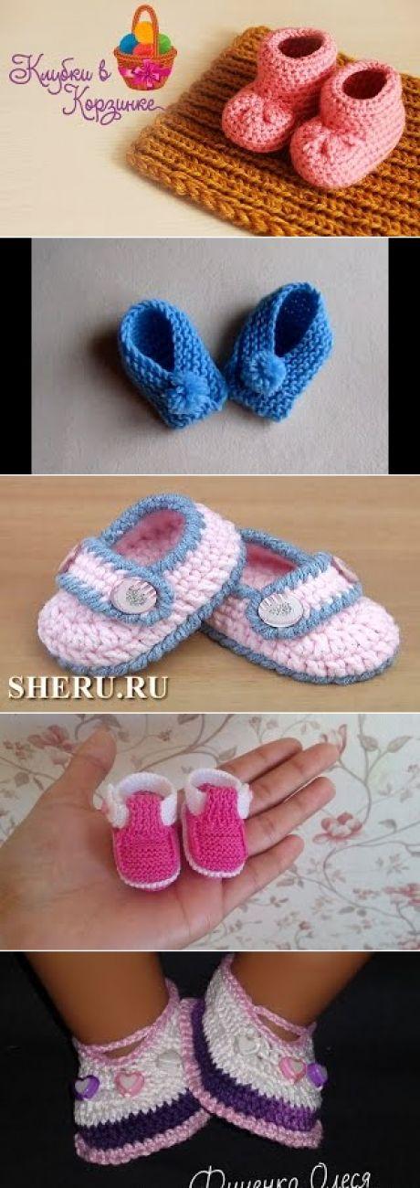 Обувь для куклы Беби Борн - вязаные пинетки. Одеваем Беби Бона #21. – AntiDiary Видео