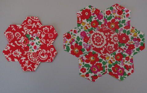 Grandmother's Garden Hexagons 021