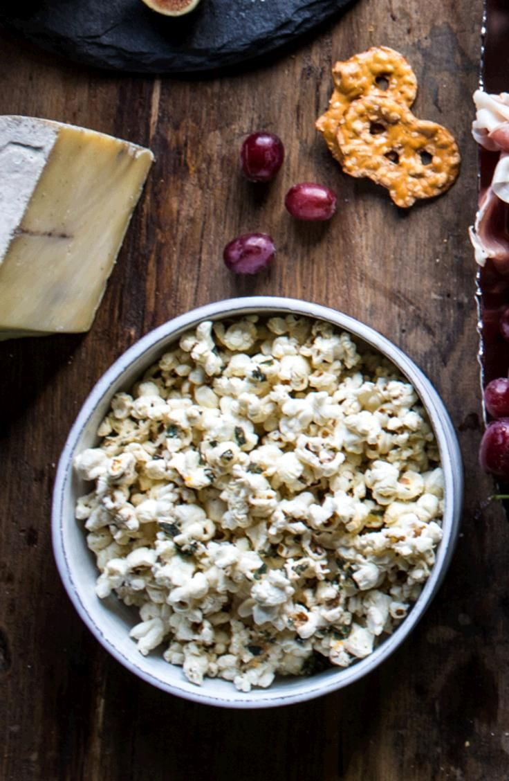 Parmesan, Truffle Butter and Sage Popcorn