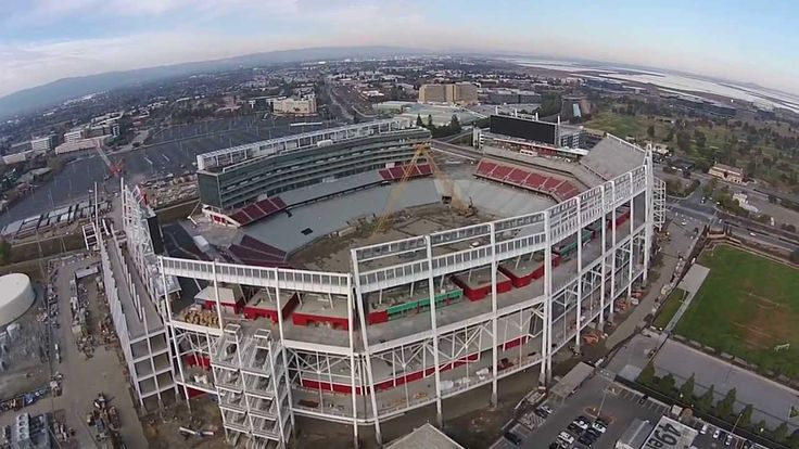 Levi's Stadium aerial view using Dji Phantom Vision 2. (no audio)