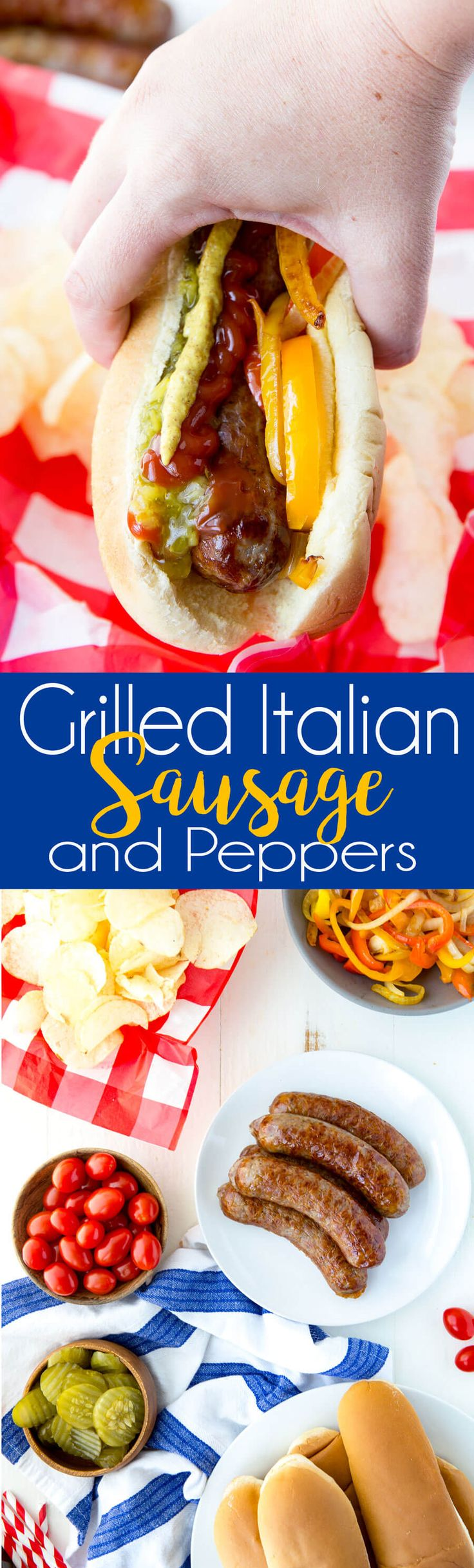 Italian Sausage and Peppers make the perfect Father's Day meal. Great cook out food! #ad