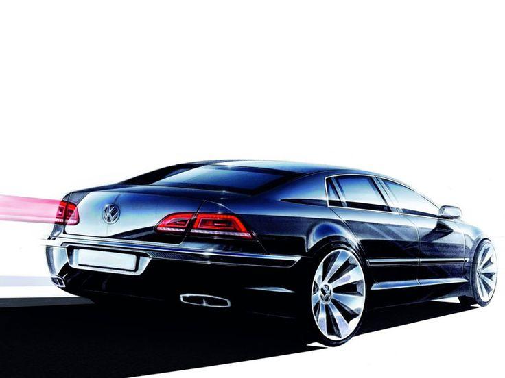 VW Phaeton, Exterior Sketch