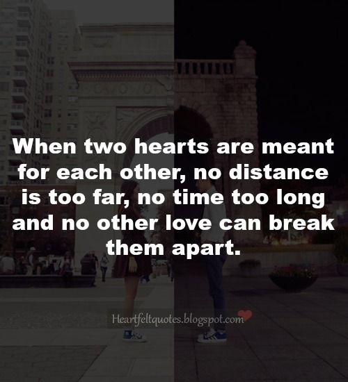 Heartfelt Quotes: Long distance relationship love quotes.