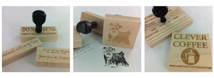 Custom Rubber Stamps - cost varies but starts under 5$ could easilyget any stamp id want for under 20.