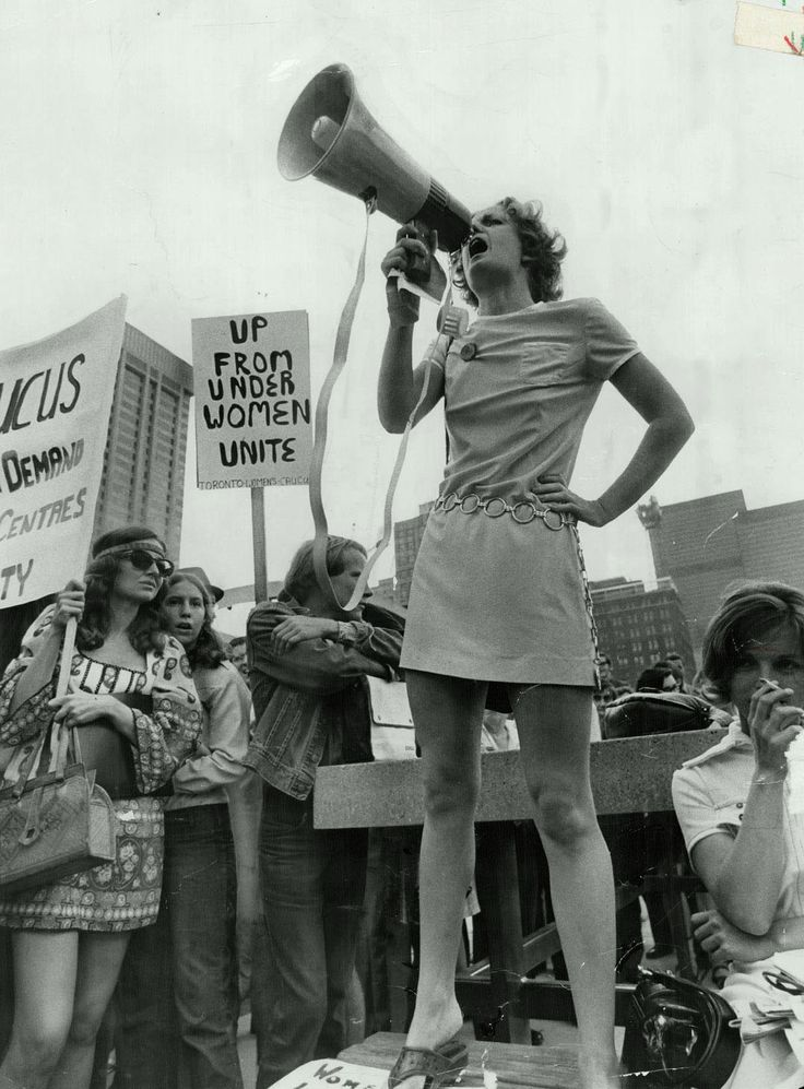 HISTORICAL REFERENCE: Women's Liberation rally at Nathan Phillips Square, 1970 (EQUAL RIGHTS)