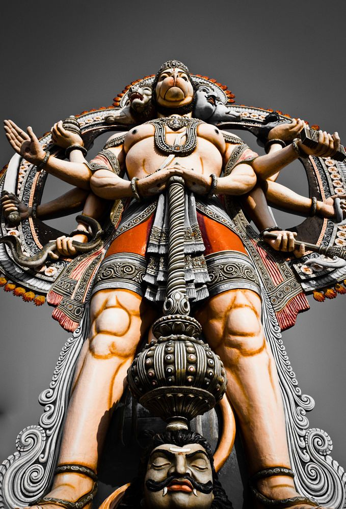 Hanuman Idol of strength and courage by Rohith Rao on 500px