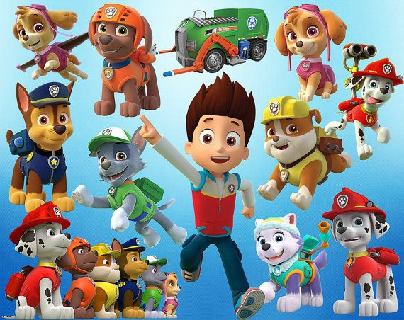 Paw Patrol Clipart 44 PNG Digital Printable Pictures Clip Art Graphic Scrapbooking Invitations