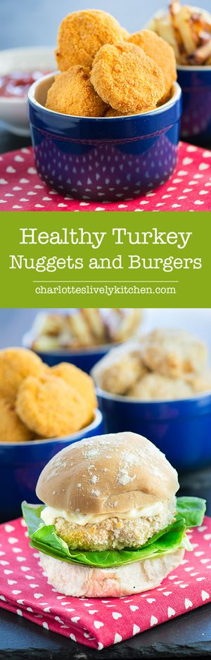 Healthy Homemade Turkey Nuggets & Turkey Burgers - Fun and easy to make and…