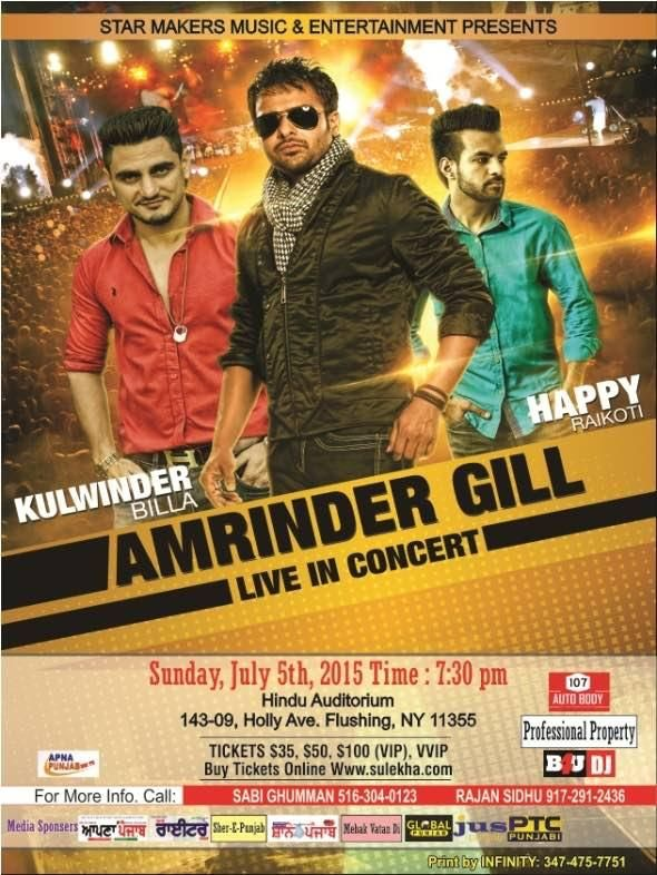 Amrinder Gill Live in Concert, NY