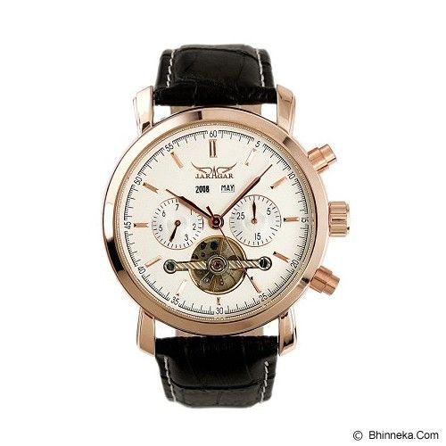 ESS Luxury Men Leather Strap Automatic Mechanical Watch [WM299] - Black/Gold - Jam Tangan Pria Casual