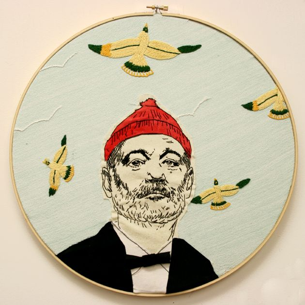 I have not embroidered in ages... this Steve Zissou inspired one is awesome. Gives me all sorts of ideas.