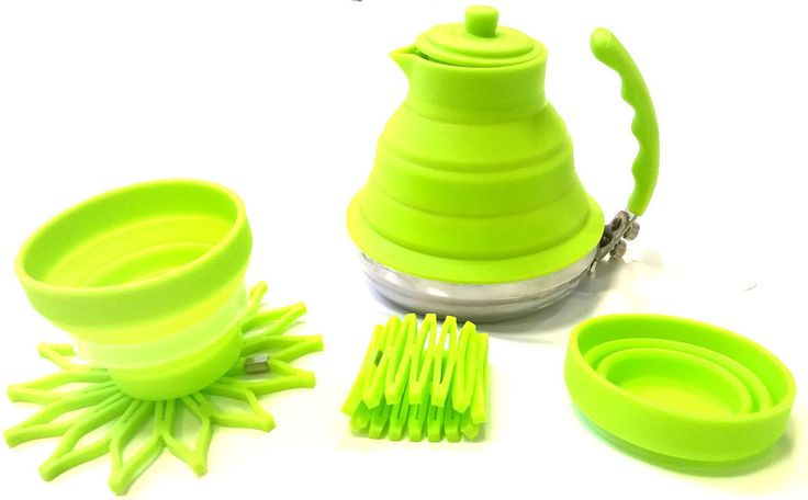 Collapsible Folding Kettle Silicone Gas Stove Hob Kitchen Camping VARIATIONS!