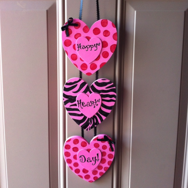 Valentine's door hanger - Aunt Fred this is for you!