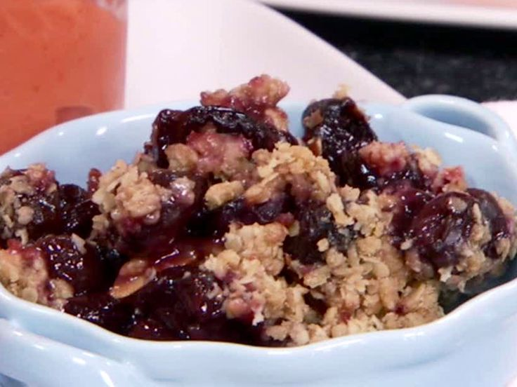 Sweet Black Cherry Crisp recipe from Paula Deen via Food Network.  Looks super easy.