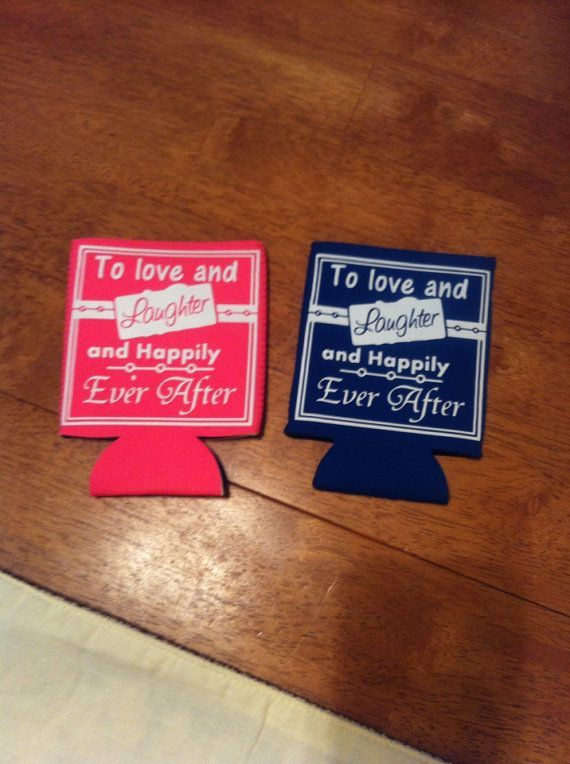 Clever Wedding Koozie Sayings Custom Printed Koozies Are The Perfect Favors For