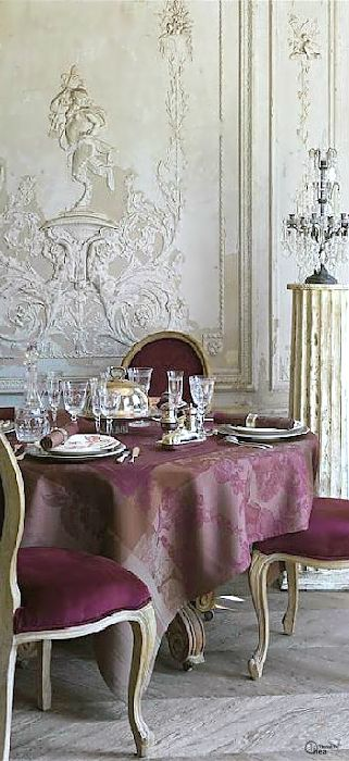 ❥...~Dining Rooms~...❥   French. ✦  from my board: https://www.pinterest.com/shellycjordan/~dining-rooms~/