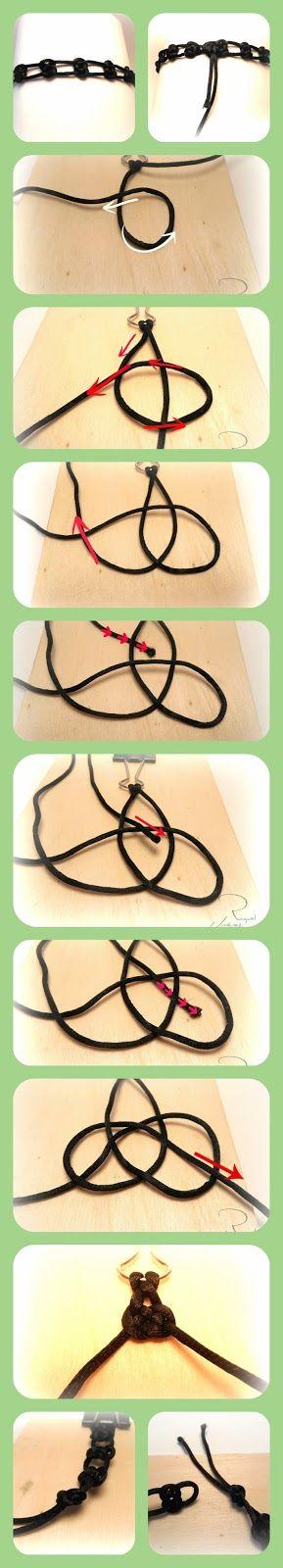 DIY. como hacer un choker con nudo infinito. How to make a choker with infinite knot