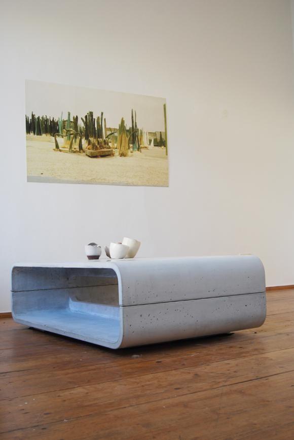 Ber ideen zu couchtisch beton auf pinterest couchtisch nussbaum betonm bel und - Designer betonmoebel innen aussen ...