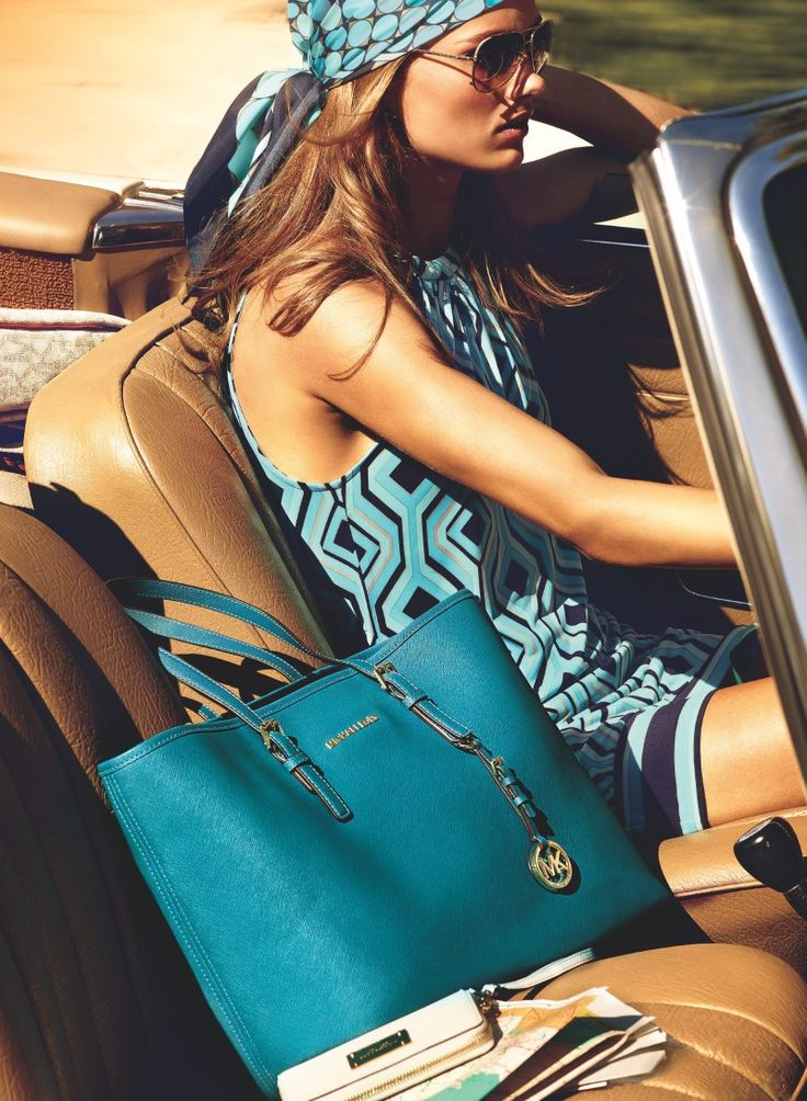 You Can Find Various Style Of And Color Michael Kors Jet Set Saffiano Travel Medium Blue Totes In Our Store.