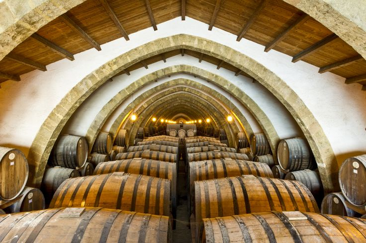 Cellar at Cantine Florio in Marsala - it's over 3 football fields long! Marsala, Province of Trapani , Sicily region Italy
