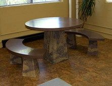 Round Table, Benches Concrete Furniture J. Cole Designs Santa Rosa, CA