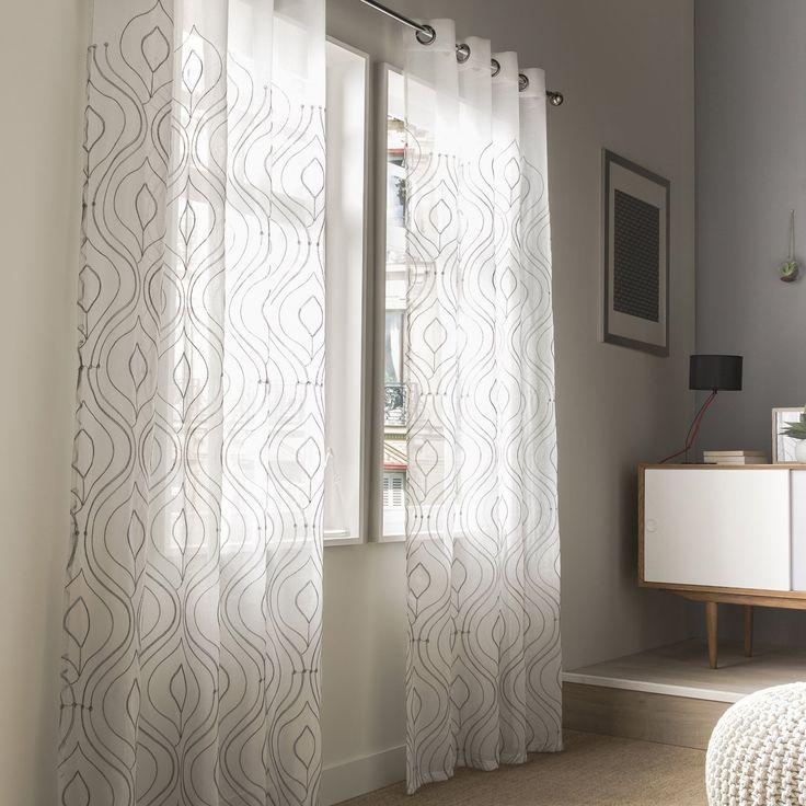 les 35 meilleures images du tableau deco voilage sur pinterest rideaux voilages choix et. Black Bedroom Furniture Sets. Home Design Ideas
