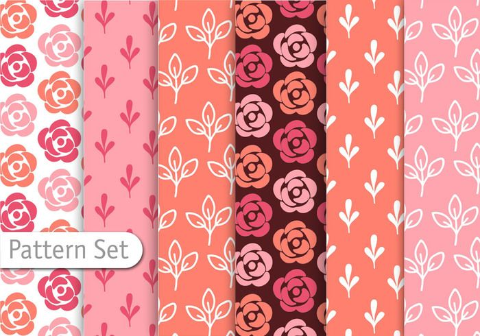 Romantic Colorful Pattern Set