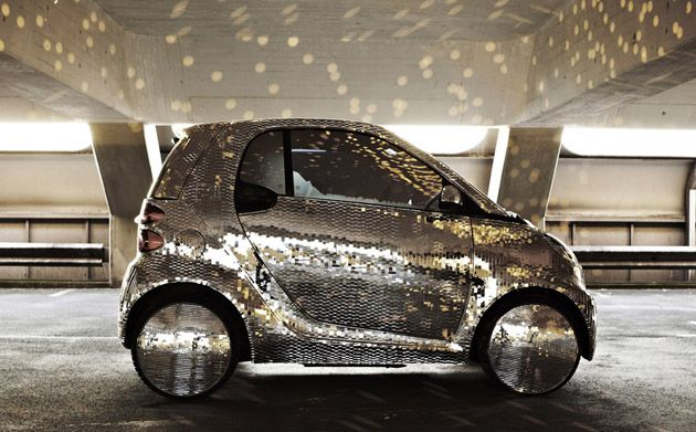 a sparkly car? omg i would die this is too cute
