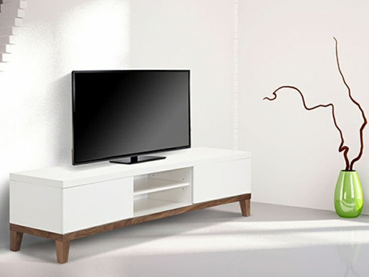 1000 id es sur le th me meuble tv blanc laqu sur. Black Bedroom Furniture Sets. Home Design Ideas