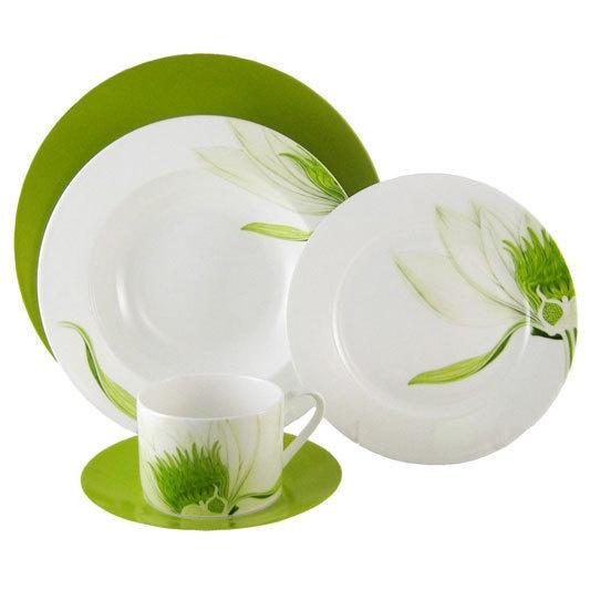 gorgeous green dinner set
