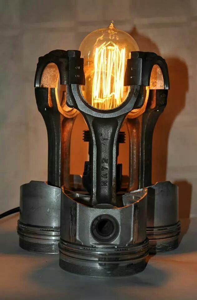 Piston lamp..