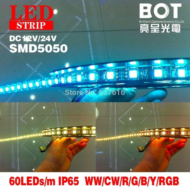 Дешевое Rgb из светодиодов полосы 5 м 60 светод. / м SMD5050 водонепроницаемый с из светодиодов водителя и 24 keys контроллер счетчики ювелирных изделий / фойе декоративные лампы, Купить Качество полосы светодиодные непосредственно из китайских фирмах-поставщиках:             Фабрика diect дейл!!!                             RGB светодиодные ленты 5 м/шт. 60 60leds/м SMD5050 водонеп