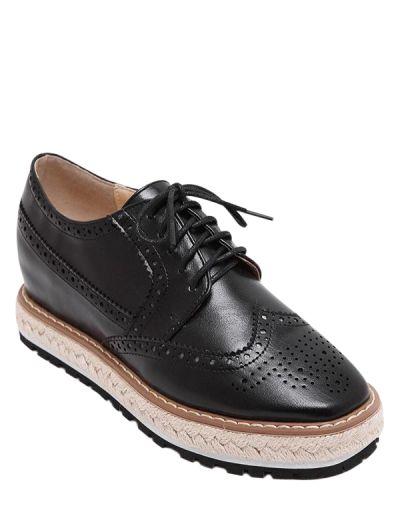 OBTENIR 50 $ MAINTENANT | Rejoignez Zaful: obtenez vos 50 $ MAINTENANT!http://fr-m.zaful.com/wingtip-espadrilles-square-toe-platform-shoes-p_268619.html?seid=3819461zf268619