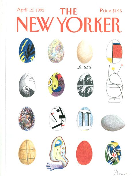 Cover of New Yorker (1993) / design by Benoit Van Innis: Eastern Covers, Benoit Vans, 1993 04 12 Jpg 465 611, Covers Design, Yorker 1993, Covers Art, Magazines Covers, New Yorker Covers, Easter Covers