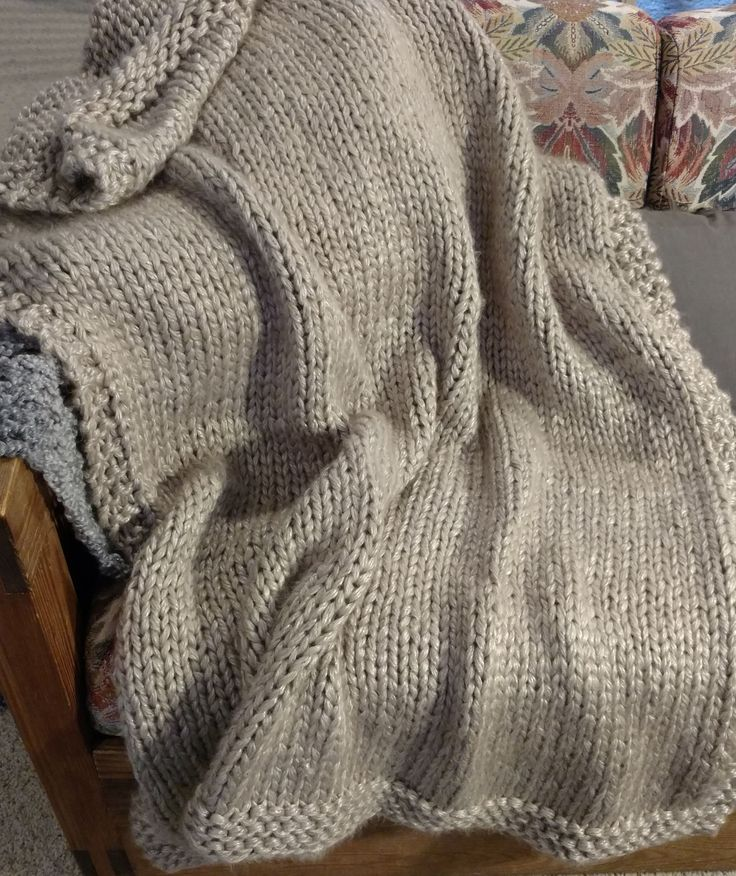 I Knitted This Throw With Buttercream Luxe Craft Glossy