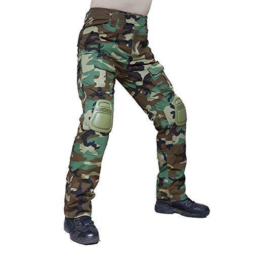 From 38.98 Tacvasen Men's Casual Trousers Lightweight Tactical Military Assault Combat Rip-stop Pants Jungle Camo 36