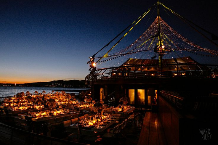 Amazing location, view and decoration with thousand lights!Perfect for a Navy Blue Marine Wedding!