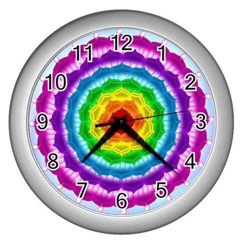Wall clock Chakra - also for sale on www.etsy.com/shop/chakra