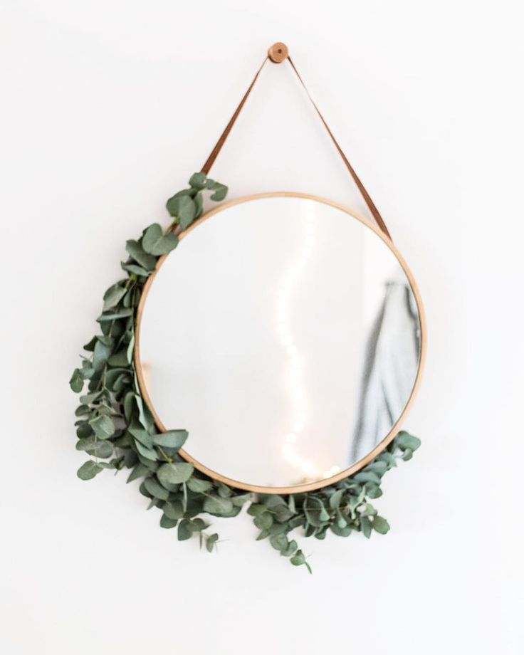 greenery adorned mirror