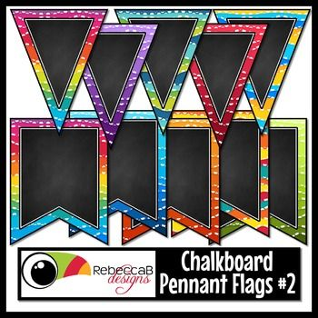 This Bunting Clip Art set contains 44 LARGE U.S. Letter sized, framed, chalkboard, bunting clip art with an abstract pattern. There are 2 shapes and 22 color combinations.  Import individual images into your editing program, for example PowerPoint and add your text or clip art to create stunning banners for your classroom or products for resale.